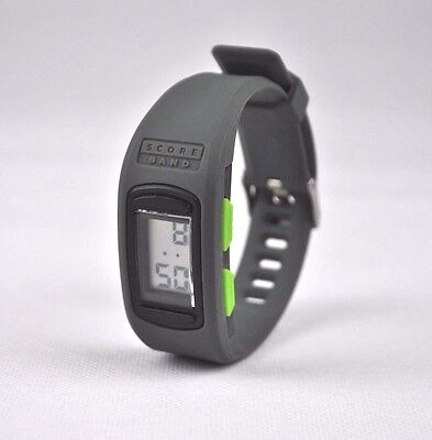 ScoreBand PLAY Digital Watch Grey - Tennis Golf Stroke Score Counter Keeper
