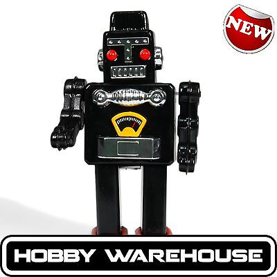 Black Retro Vintage Tin Toy Robot