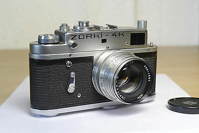 Zorki 4K camera with Jupiter-8. Leica screw mount. Tested. Very good condition.