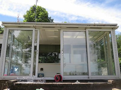 Conservatory with sliding doors and 2 windows for Conservatory sliding doors