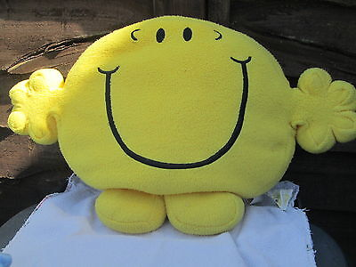 Large Mr men shaped cushion Official  Mr Happy