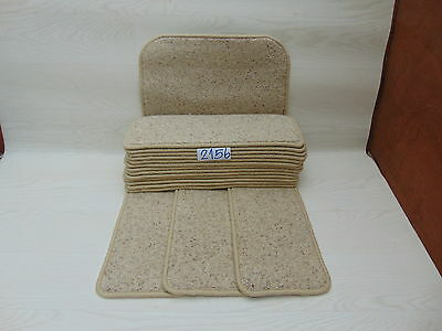 Carpet Stair pads / treads 50cm x 20cm 16 off and 76cm x 46cm 1 Big Mats 2156-3