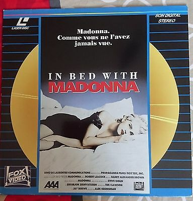 Lazer disc  MADONNA in bed with Madonna