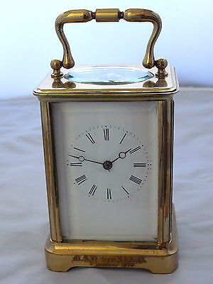 *a Fine English Victorian Carriage Clock* 8Day Striking Movment*exc.condition*