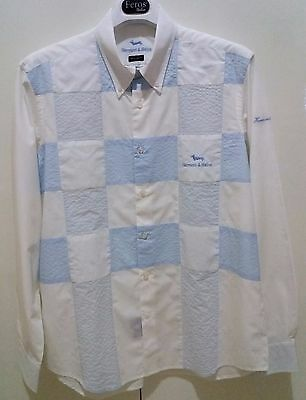 """camicia casual shirt Harmont & Blaine regular fit cotone XL (43) 17"""" M.in Italy"""