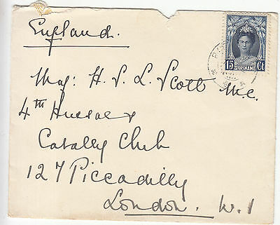 Surinam: Old Cover to London, 7 January 1935