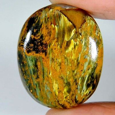 37.05cts 100% NATURAL SUPER EXCLUSIVE GOLDEN PIETERSITE OVAL CABOCHON GEMSTONE