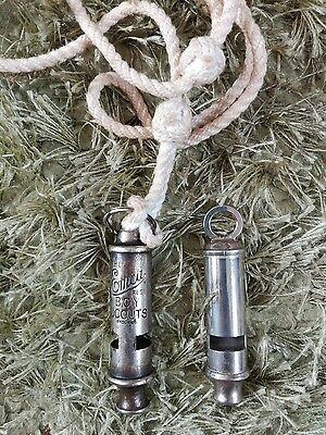 The Emca vintage Boy Scouts whistle + 1 other