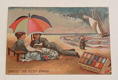 "J. & P. Coats Trade Card ""Choose the Best Shade"""
