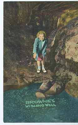 Blue Mounds, WI, Cave of the Mounds, Brownie's Wishing Well, 1940's- Postcard