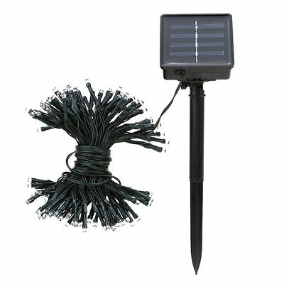 17m 100 LED Colorful Waterproof Outdoor Solar LED Light Fairy String Garden PF