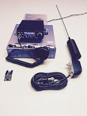 4x4 CB Radio AM/FM Starter Kit Team TS-6M Mini Springer CB Antenna & Side Mount