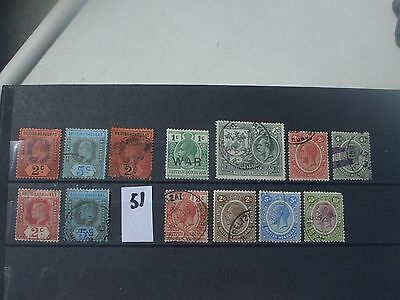 Ed V11 To Geo V British Honduras stamps