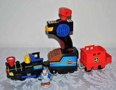 GeoTrax Remote Control Timbertown Train And Samuel Figure Works
