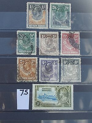 Geo V northern Rhodesia stamps  to 2/6d