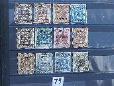 early Palestine stamps all overprinted