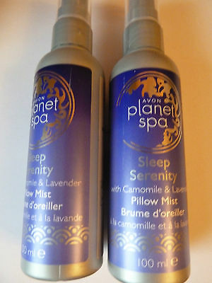 AVON  PLANET SPA SLEEP SERENITY PILLOW MIST SPRAY  X 2 ~ 100ml EACH ~ BRAND NEW