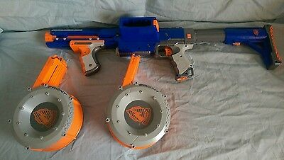 ****** Nerf N-Strike Raider Cs-35 With Stock And 2 Drums ******