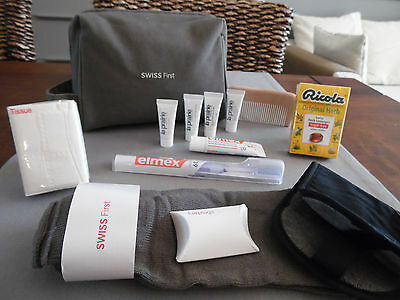 SWISS AIR LINES First Class LA PRAERIE Amenity Kit Trousse Neceser Kulturbeutel
