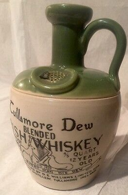 """VINTAGE Tullamore Dew Blended Irish Whiskey Jug (Empty) """"Give Every Man His Dew"""""""