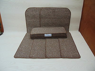 Carpet Stair pads / treads 50cm x 20cm 14 off and 76cm x 46cm 2 Big Mats 2161-3