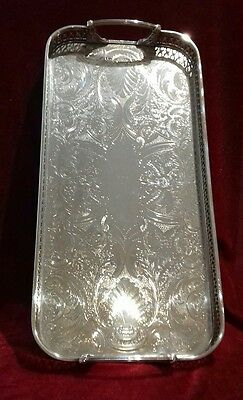 Silver plated serving / drinks tray