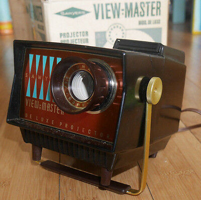 Sawyers Viewmaster Mod De Luxe Projector Bakelite Rare Working & Boxed  #405