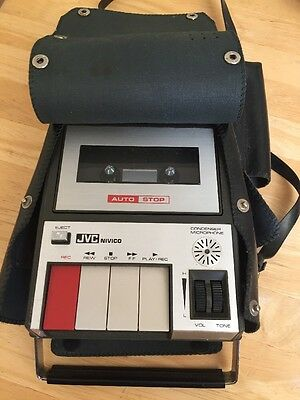 VINTAGE Jvc Nivico Portable Cassette Tape Recorder Player 1970's