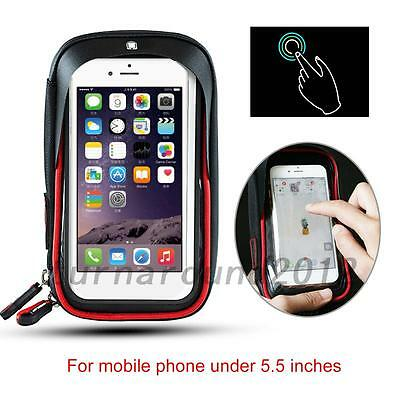HOT Bicycle Cycling Bike Frame Front Tube Waterproof Mobile Phone Bag Holder