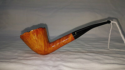 Christopher Pipes - Bent Dublin Briar Tobbaco Pipe with Plateaux rim