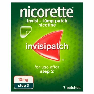 Nicorette Invisi Patch 10mg Step 3 - 7 Patches 1 2 3 6 12 Packs