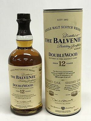 The Balvenie 12 Years Old Doublewood Single Malt Scotch Whisky 700Ml Boxed