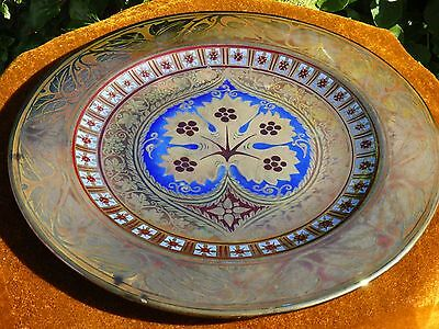 A Large Pilkington`s Royal Lancastrian Lustre Charger, Mycock 1920,19 inches dia