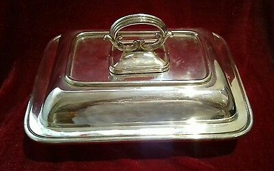 Silver plated serving tureen / dish with lid