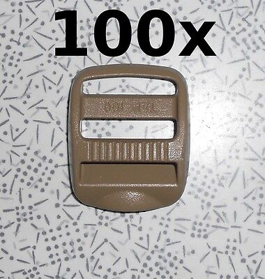 "100 Piece LOT  ITW Nexus Trovato Ladderloc 1"" TLL 100 Coyote Tan TLL100 TLL-100"