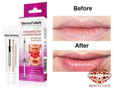 DermoFuture Hyaluronic Acid Glass Glow Lip Plumper Booster Filler Fuller Vit. B5