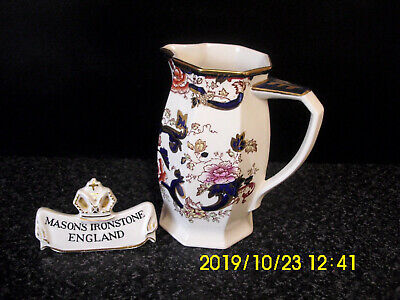 Masons Ironstone Blue Mandalay Pattern Milk Jug