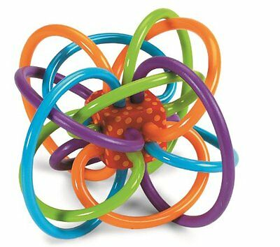 Manhattan Toy Winkel Rattle and Sensory Teether Activity Toy 5L x 3.5H x 4Win