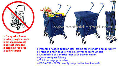 Folding Shopping Cart - Versacart Utility Cart - Transport Up to 120 Pounds New