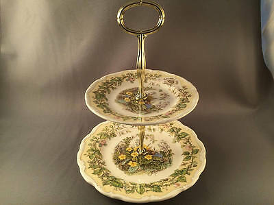Rare Royal Doulton Brambly Hedge spring 2 Tier Cake Stand.