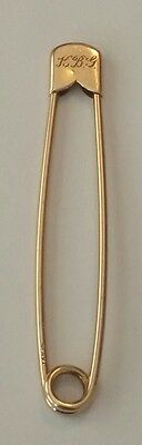 Antique 14K Solid Gold Safety Pin