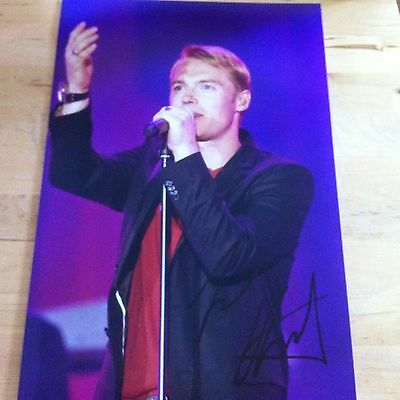 RONAN KEATING signed autographed 12 x 8 photo signed