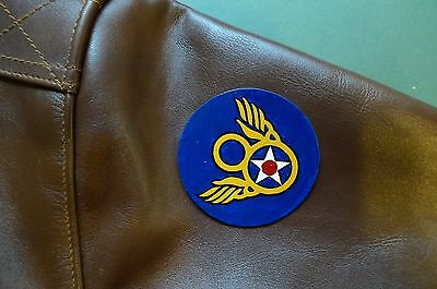 Mighty Eighth - Stubby 8Th Usaaf Painted Leather  A2 Shoulder Patch - Ww2