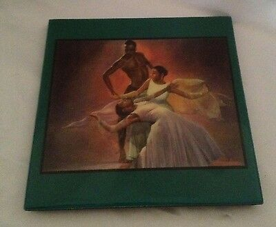 Black Dancers Ceramic Art Tile - 8 x 8