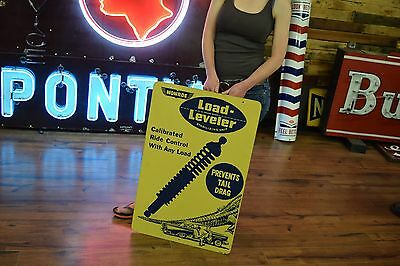 1950's Monroe Load Leveler Shock Advertising Sign Alligator & Car Logo Service