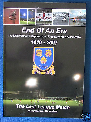 Shrewsbury Town v Grimsby Town - Last Match at Gay Meadow - 5/5/07