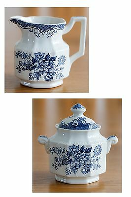 Kensington Balmoral 1801 creamer sugar bowl with lid