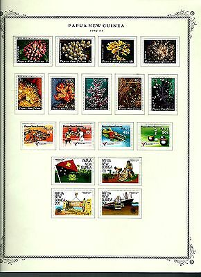 Papua New Guinea 1982 lot on page as seen LMM (A657)