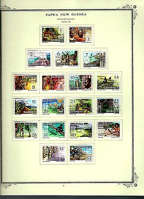 Papua New Guinea 1973 lot on page as seen LMM (A641)