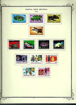 Papua New Guinea 1978 lot on page as seen LMM (A649)